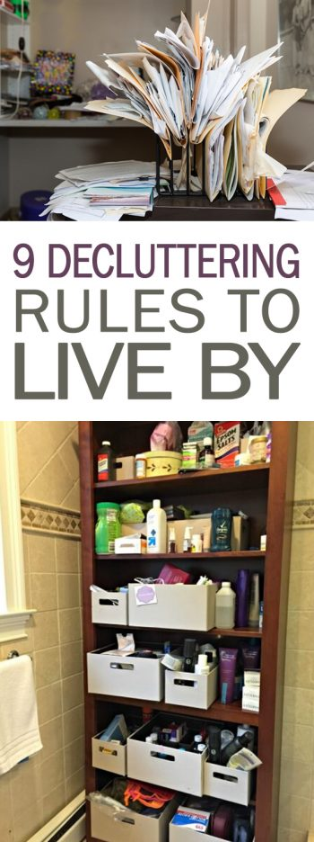 9 Decluttering Rules to Live By - 101 Days of Organization| Decluttering, Decluttering Ideas, Declutter and Organize, Organization, Organization Ideas