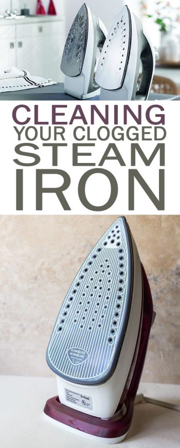 Cleaning Your Clogged Steam Iron - 101 Days of Organization| Cleaning Hacks, Cleaning TIps, Cleaning, Clean Iron How to , Clean Iron Plate How to, Clogged Iron, Clean Home, Clean Home Hacks, Life Hacks