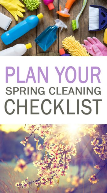 Plan Your Spring Cleaning Checklist - 101 Days of Organization| Cleaning Tips, Spring Cleaning, Spring Cleaning Checklist, Spring Cleaning Tips, Spring Cleaning Hacks