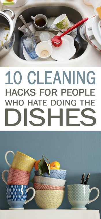 10 Cleaning Hacks for People Who Hate Doing the Dishes - 101 Days of Organization | Cleaning, Cleaning Hacks, Cleaning Tips, Clean Home, Clean Home Hacks, Home Cleaning Tips