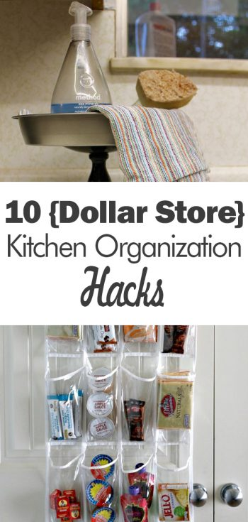 10 {Dollar Store} Kitchen Organization Hacks| Kitchen Organization, Kitchen Organization Ideas, Kitchen Organization DIY, Kitchen Organization Dollar Store, Dollar Store, Dollar Store Craft, Dollar Store Organizing