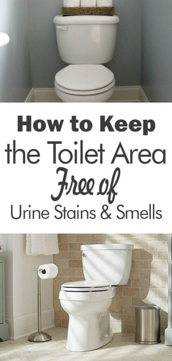 How to keep the toilet area free of urine stains smells - How to keep a bathroom smelling fresh ...