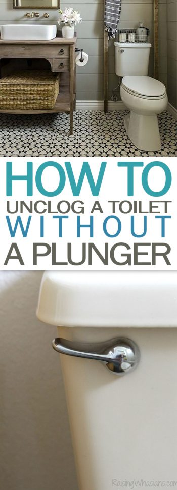 How to Unclog a Toilet WITHOUT a Plunger - 101 Days of Organization | Home Hacks, Home Hacks DIY, Cleaning Hacks, Cleaning TIps, Life Hacks