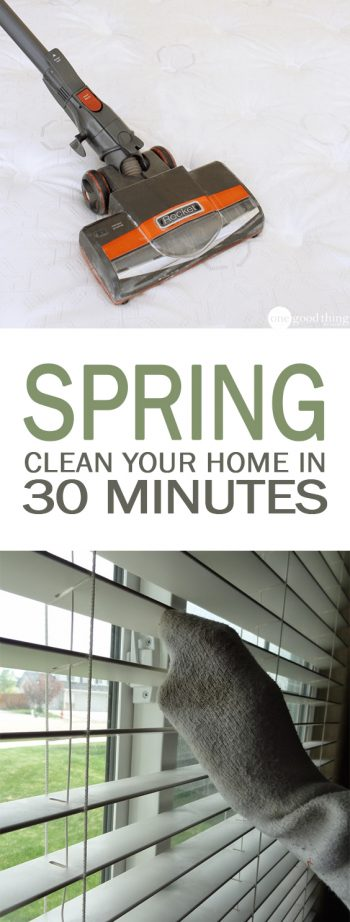 Spring Clean Your Home in 30 Minutes| Spring Cleaning, Spring Cleaning Checklist, Spring Cleaning Tips, Cleaning, Cleaning Hacks, Clean Home