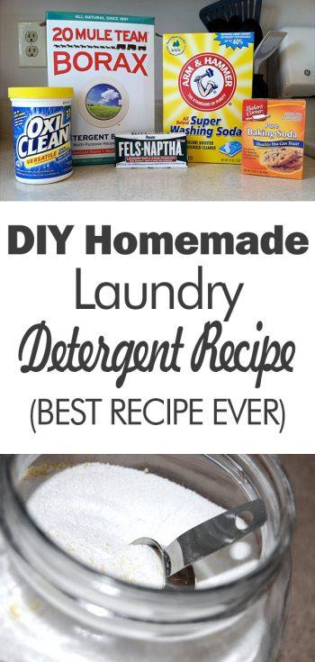 DIY Homemade Laundry Detergent {Best Recipe Ever!}, Homemade Cleaning Products, Homemade Cleaners, Laundry Detergent Homemade, Laundry Detergent, DIY