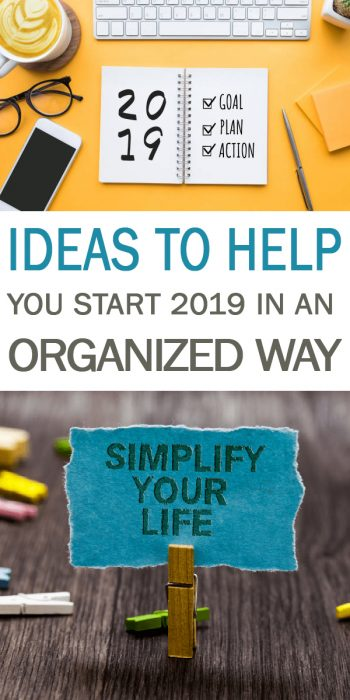 Ideas to Start 2019 in an Organized Way | Organized | Get Organized | Ideas to Get Organized | Tips and Tricks to Organize 2019 | Start 2019 in an Organized Way