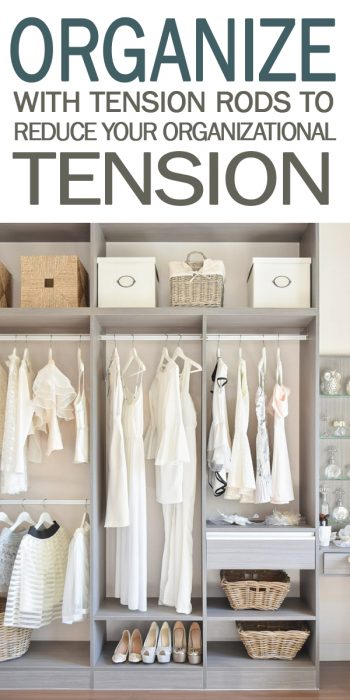 organize with tension rods | tension rods | organize | organization | organization tips | tips and tricks | tips and tricks for organizing
