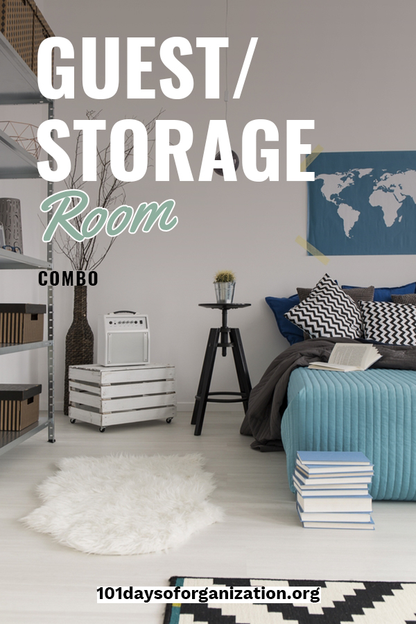 Making the most of the space in your house isn't always easy. But, we have a great solution. We can help you organize a guest/storage room combo. These tips make the most of a room that rarely gets used. You might be surprised at how much you can store in a spare bedroom. Take a look by reading on. #guestbedroom #storagesolutions #gueststorageroom