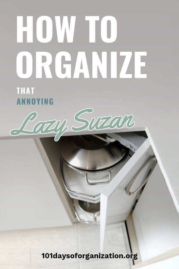 The term lazy Susan has always puzzled me because to reach anything in one seems to be a lot of work. That's why we are talking about ways to organize a lazy Susan so that finding things doesn't have to be such a big headache. We've got tips for things like spices, DIY organizing ideas and more. Don't get stuck in the corner with these ideas to help you out. #organizationtips #lazysusansolutions