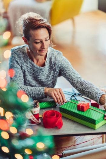 Are you trying to take away some of the stress from the holidays this year? Try creating a Christmas wrapping station. It makes things so much easier.