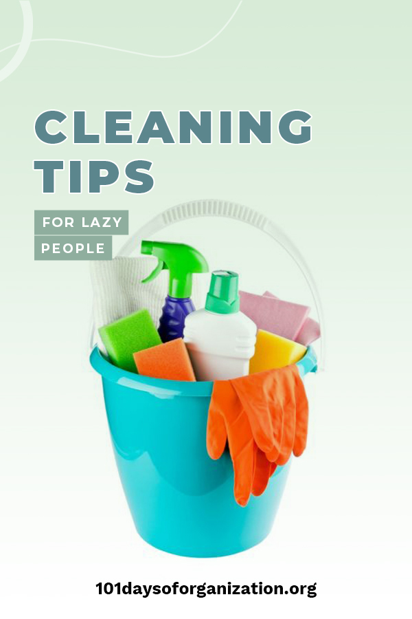 If you tend to be on the lazy side, cleaning is the last thing you want to do. But, it still needs to be done. This article is all about tips to help lazy people clean their bathrooms, bedrooms, kitchen and the house. These tips make cleaning faster and easier and you may (no guarantee) even like it. Keep reading for these awesome cleaning tips that lazy people can't live without. #cleaningtipsforlazypeople #cleaningtipsbathroom #cleaningtipskitchen #cleaningtips