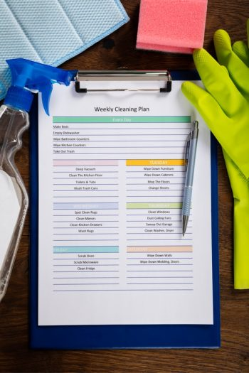 So you'd like your home to be white glove clean, but you want it to be as easily said as it is done. Well, we can't make it quite that easy, but we can share our cleaning tips for lazy people. Put together a cleaning schedule to help keep you on track.