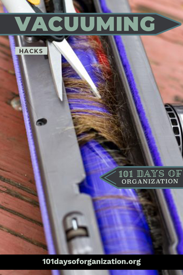 Vacuuming is a job you either love or hate. Either way, these hacks could change your mind or make you love it even more.  Tips to make your house smell good when you vacuum, and other ideas to keep your vacuum clean. Before you vacuum again, read this post to learn these awesome hacks. #101daysofourganizationblog #removepethairandodor #cleaningtips