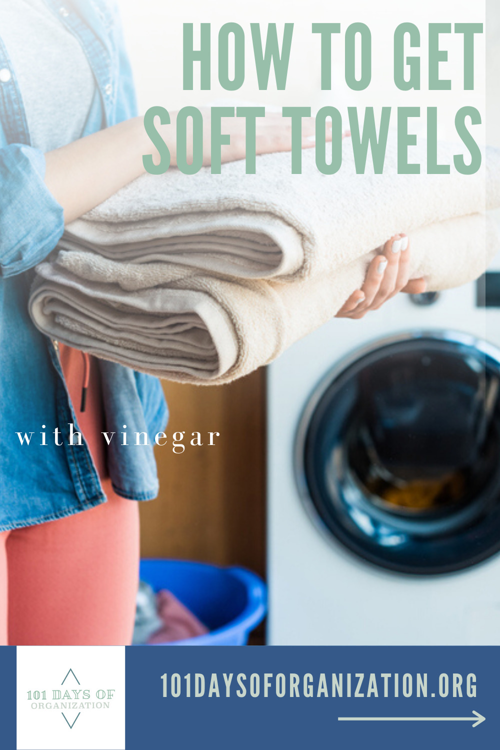 It's not secret that everybody and their dog likes soft towels. But, once they get old and rough, hardly anybody knows the secret about how to get soft towels. But, keep reading and we will share it with you. #laundrywithvinegar #howtogetsofttowels #101daysoforganization