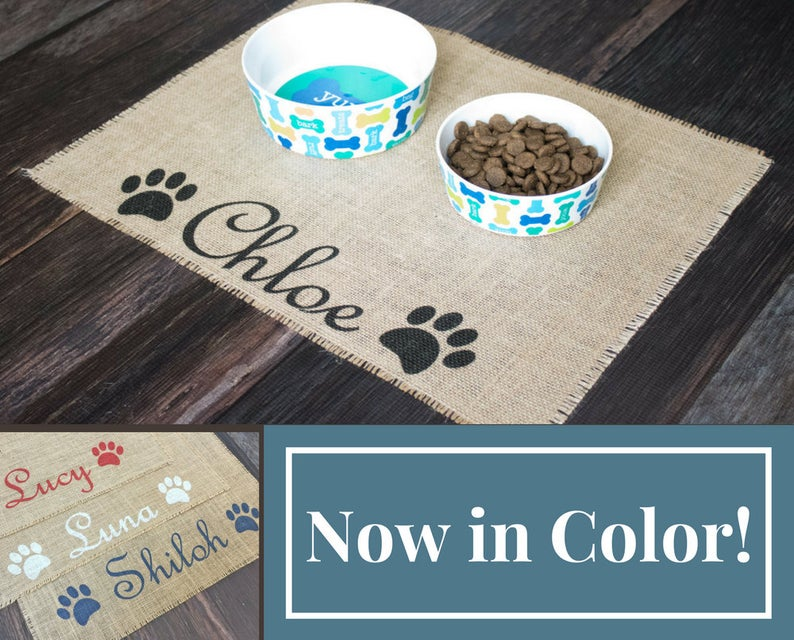 One easy way to prevent pet food mayhem is to use a pet place mat. An effective place mat helps prevent pet dishes from sliding around. Here's how to keep a house clean with pets so you aren't overwhelmed by your new pet's messes.