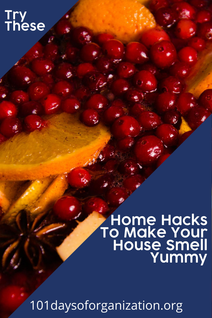 I love a nice smelling house. Whether for the season or just a nice fragrance, I have learned a few home hacks that make your home smell yummy and they don't cost much either. If you want your house to smell good, and at a fraction of the cost of store bought fresheners, keep reading. #homehacks #homehacksforsmells #101dayoforganiztonblog