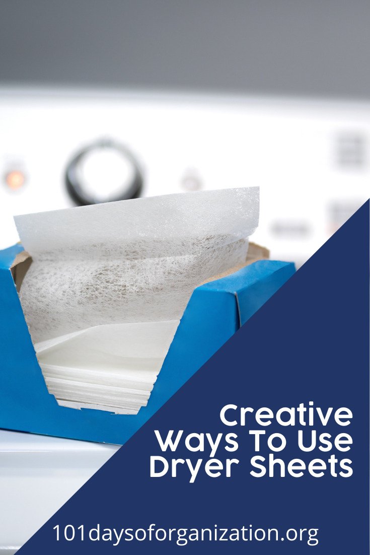 101daysoforganization.org has all you need to get everything clean and organized and make your life easier. Lots of household items have multipurpose uses that you might not have considered! Get the most out of your dryer sheets with these creative ideas.