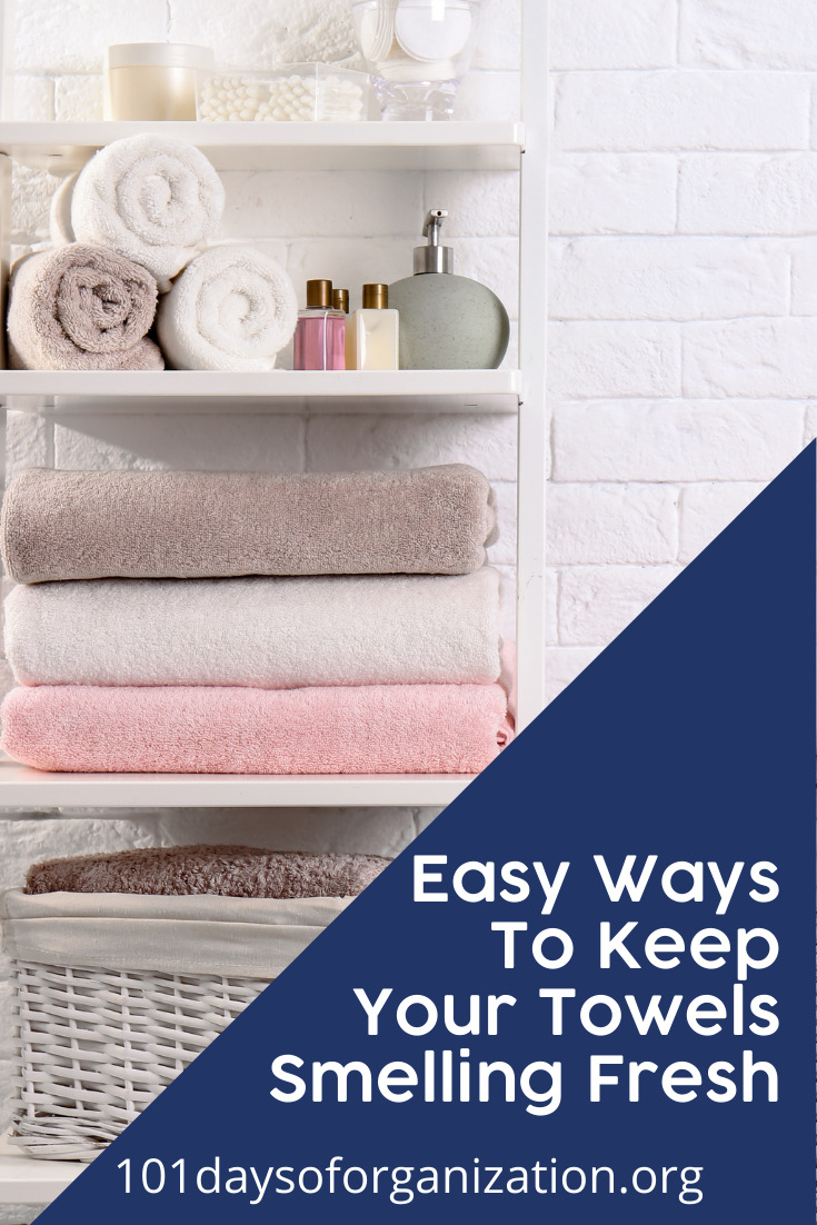 101daysoforganization.org is a one-stop destination for all things cleaning, organization, and planning! Find creative ways to get your home in tip-top condition! Don't let your towels become musty. Find out how you can keep them smelling fresh all the time!