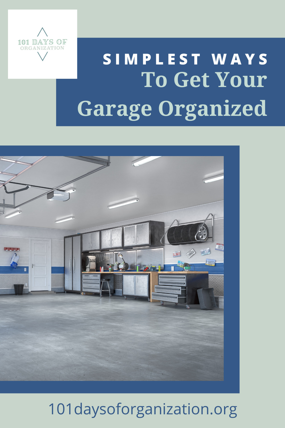 101daysoforganization.org is the best place to go to learn how to get your home and life in order. Find simple solutions for cleaning and organizing everything. Tackle the clutter in your garage today with these clever ideas!