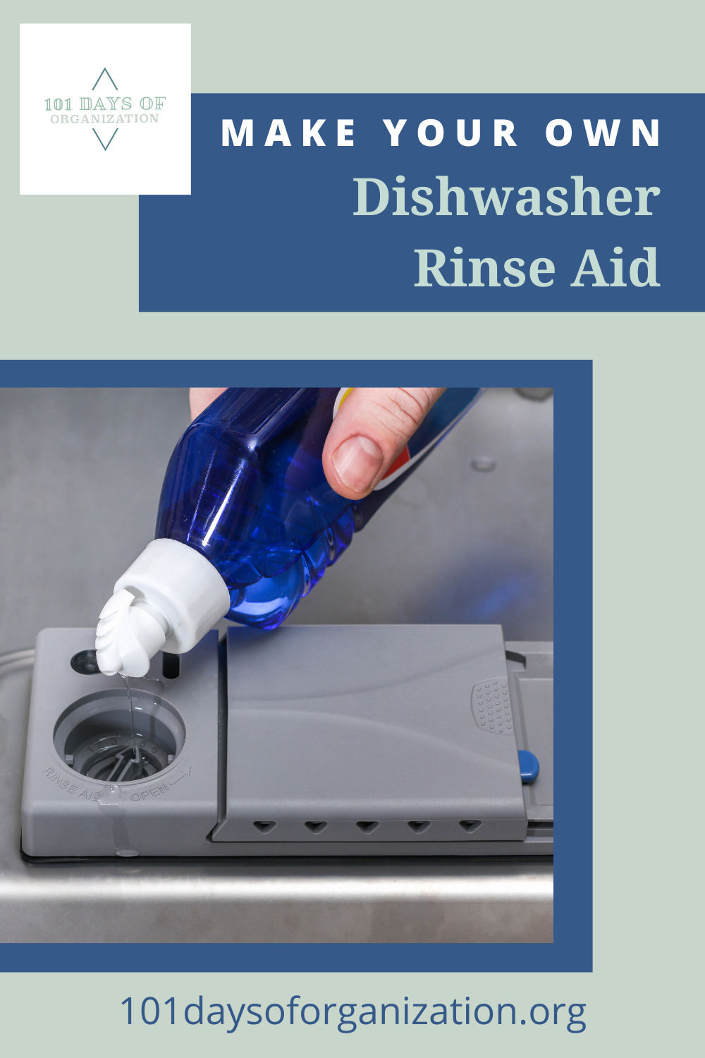 101daysoforganization.org is the best place to find cleaning and organization ideas you'll love. Don't miss out on the latest tricks for making mess-free living a breeze! Learn how you can make your own cleaners, like this DIY dishwasher rinse aid!