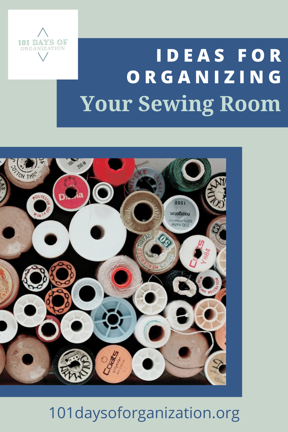 101daysoforganization.org has all the best ideas for cleaning up the sticky messes in your life! Find easy ways to get your home more organized than ever before! Get started with these super easy sewing room organization ideas!