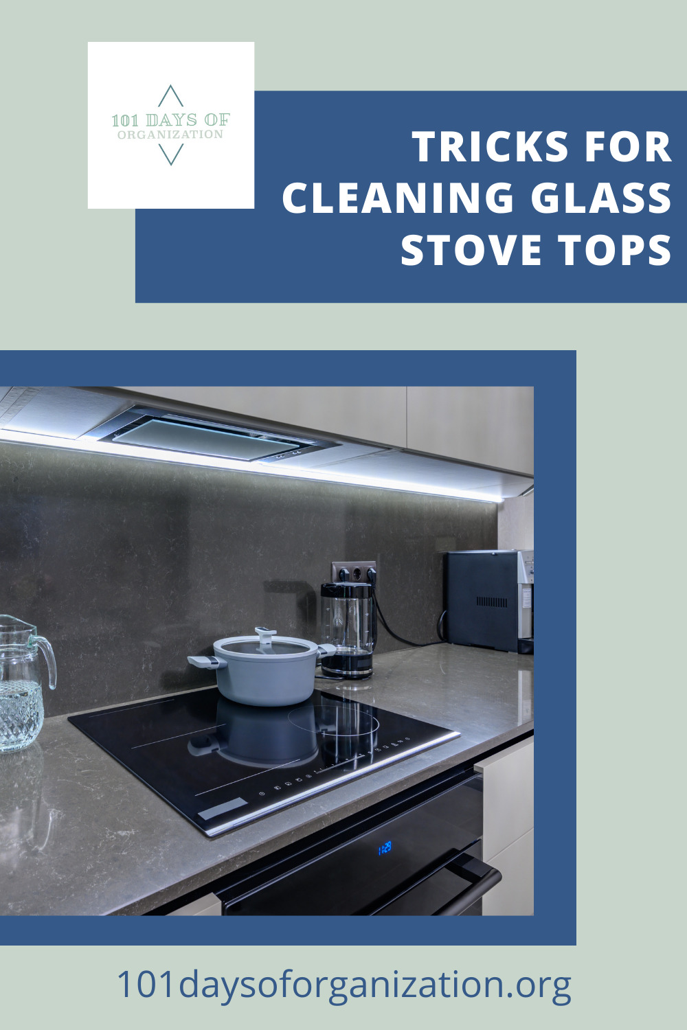 101daysoforganization.org has all the best ideas for cleaning up the sticky messes in your life! Find easy ways to get your home more organized than ever before! Get started with this super simple method for cleaning your glass stovetop!